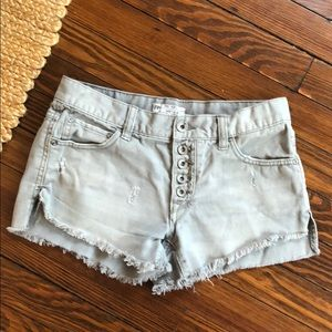 Free People Runaway frayed distressed short